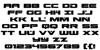 Predataur Font Letters Charmap