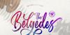 Belgedes Font handwriting