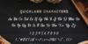 Quicklamb Font poster