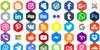 Social Color Pro Font design graphic