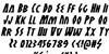 Antikythera Italic Font Letters Charmap