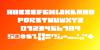 Q-bo Font screenshot design