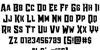 Raider Crusader Straight Font Letters Charmap