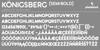 Königsberg Font font design