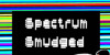 spectrum smudged Font text