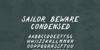 Sailor Beware Font design text