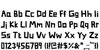 Somerset Barnyard Font Letters Charmap