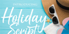 Holiday Script Font poster