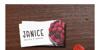 Cuties Caps Font carmine businesscard