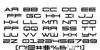911 Porscha Font Letters Charmap