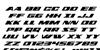 Dassault Italic Font Letters Charmap