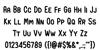 Earth Spirit Font Letters Charmap