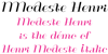 ModesteHenri Font handwriting text