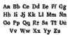 Old printing press_FREE-version Font Letters Charmap