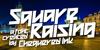 Square Raising Font text poster