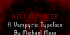 NECK ROMANCER Font text screenshot