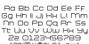 Bretton Semi-Bold Font Letters Charmap