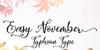 Easy November Font handwriting food