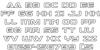 Dameron Bold Outline Font Letters Charmap