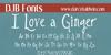 DJB I Love a Ginger Font text blackboard