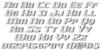 Grease Gun Chrome Italic Font Letters Charmap