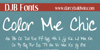 DJB Color Me Chic Font text handwriting