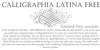 Calligraphia Latina Free Font cartoon screenshot