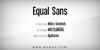 Equal Sans Demo Font screenshot design
