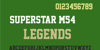 Superstar M54 Font screenshot green