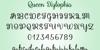 Queen Xylophia Font font screenshot
