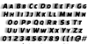 Faster One Font Letters Charmap