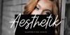 Aesthetik Script Font person woman