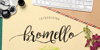 bromello Font handwriting design