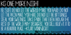 KG One More Night Font design typography