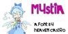 Mystia Font cartoon drawing