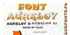 Agreloy Font design screenshot