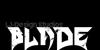 Blade Font poster design