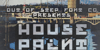 House Paint Slab Font poster