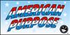 American Purpose Font poster cartoon