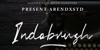 Indobrush Font poster