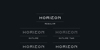 Horizon Outlinetwo Font design template