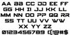 Spy Agency Font Letters Charmap