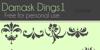 Damask Dings1 Font cartoon design