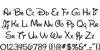 New Walt Disney Font Regular Font Letters Charmap