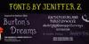 Burton's Dreams Pro Font screenshot text