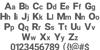Checks Font Letters Charmap