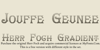 HerrFoch Font typography design
