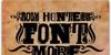 BODY HUNTER Font text book