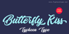 Butterfly Kiss - Personal Use Font design typography