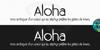 Aloha Font text